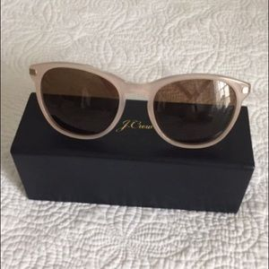 J Crew Pink Sunglasses with Case